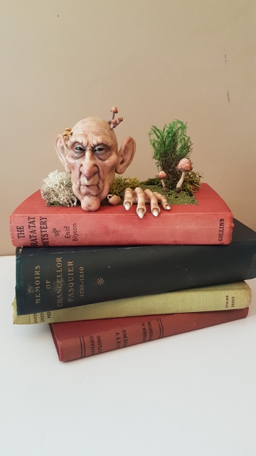 SOLD 'Book Creep' - OOAK Book Sculpture