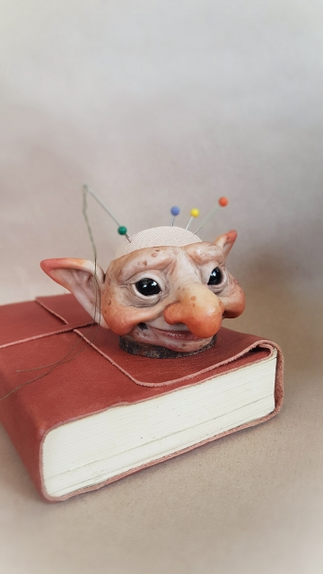 Troll Head Pincushion