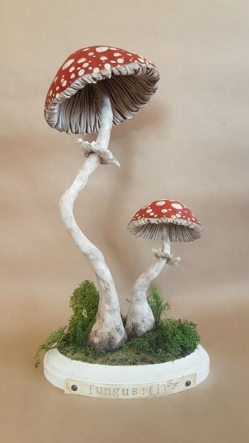 OOAK Large Mushroom Specimen Sculpture, Fungus: I