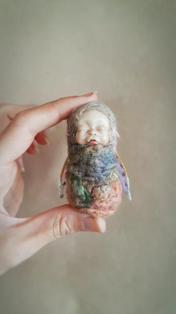 Silk Moth Faerie Baby
