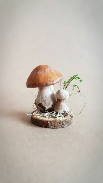 SOLD OOAK Small Mushroom Decorative Sculpture