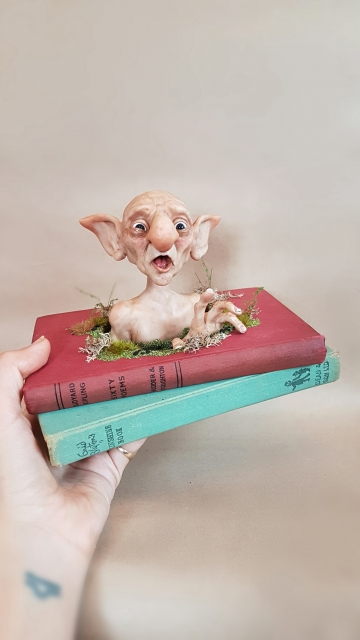 SOLD 'Troll Surprise!' - OOAK Book Sculpture